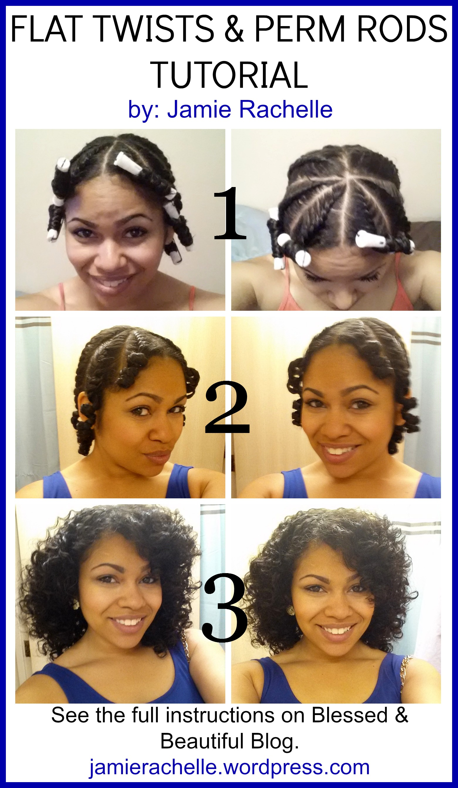 Flat Twist Natural Hair Perm Rods